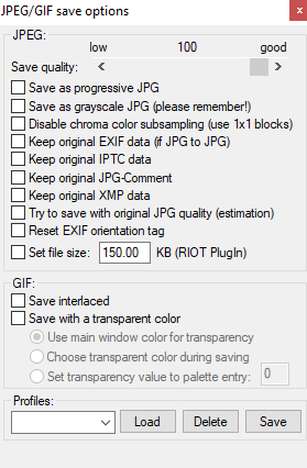how to strip exif data irfanview